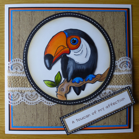 Toucan Card using Woodware products