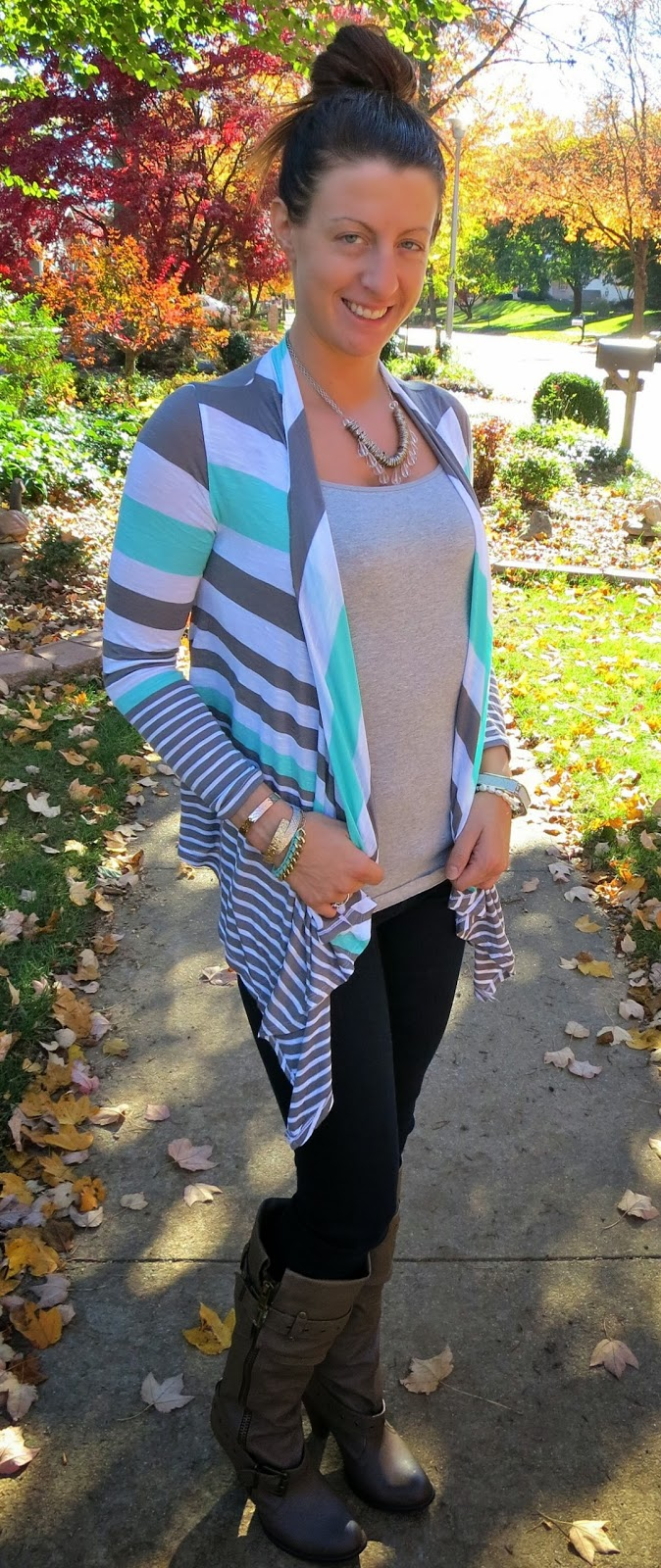 Mint Cardigan Outfit