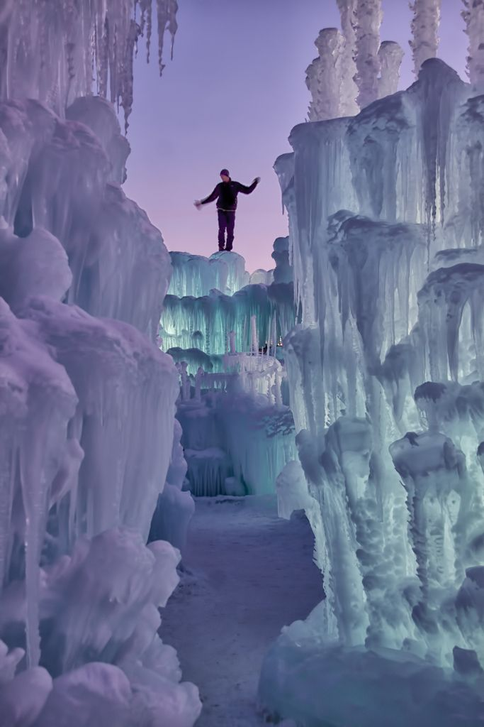 Ice Castle in Silverthorne, Colorado, USA