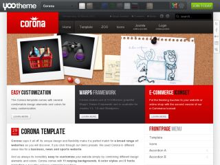 Corona yootheme joomla template joomla for Yootheme joomla templates free download