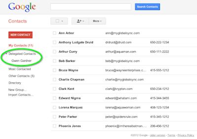 cara sharing kontak google