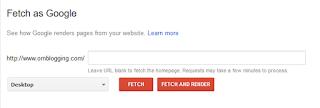 Cara Menggunakan Feetch As Google Pada Webmaster Tools