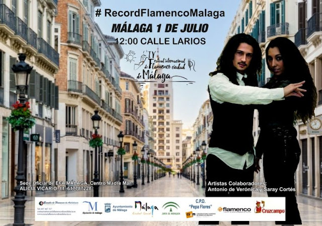 Récord de personas bailando flamenco en Málaga