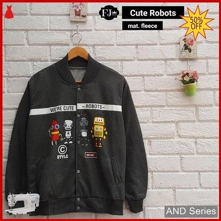 AND403 Jaket Wanita Cute Robots Bomber Jaket BMGShop