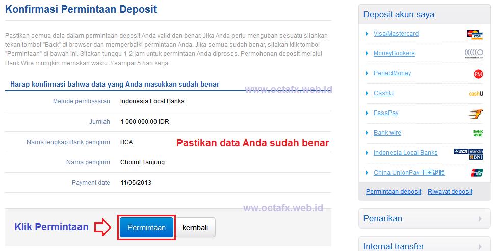 Cara Deposit Octafx Octa Forex Indonesia