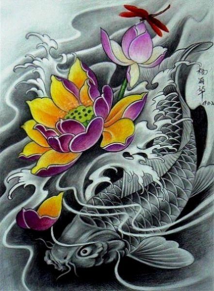 Populares Desenhos de tatuagens Carpa para downloads - Downloads de desenhos  TH46