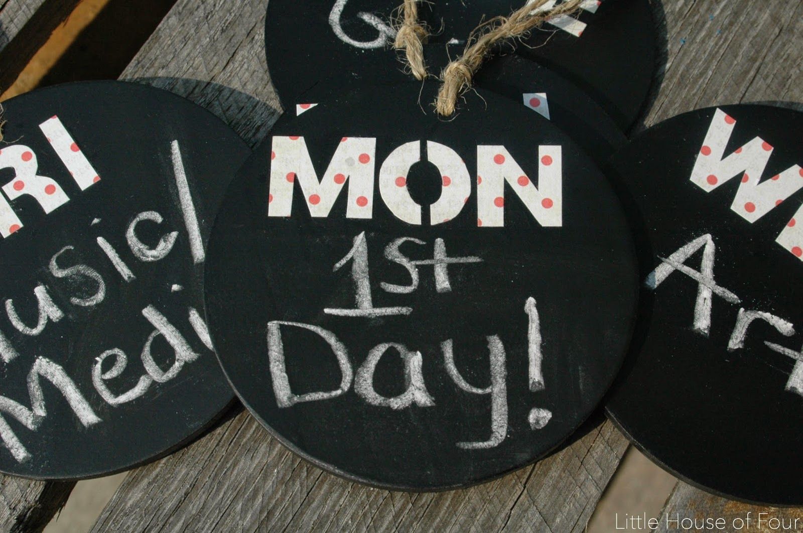 use mod podge to glue letters to chalkboard tags
