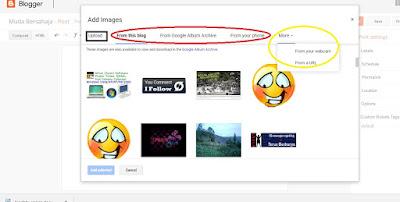 cara upload gambar blogger