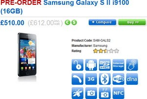 Samsung Galaxy S2 i9100 in the UK?