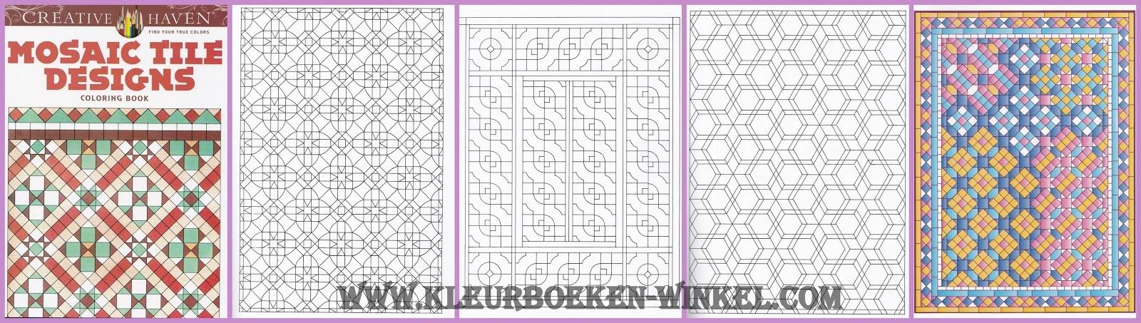 kleurboek mosaic tile designs van kleurboeken winkel