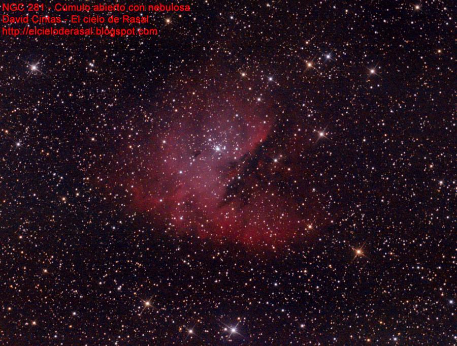 Nebulosa cúmulo NGC 281 NGC281 - El cielo de Rasal