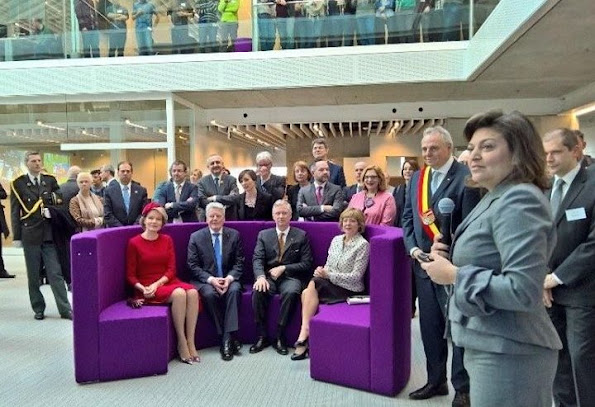 King Phillipe of Belgium and Queen Mathilde of Belgium, German President Joachim Gauck and the German president's partner, Daniela Schadt