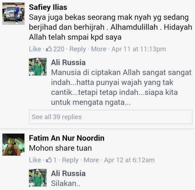Ali Russia Dedah Mesej Keinginan Safiey Ilias Untuk Bertaubat