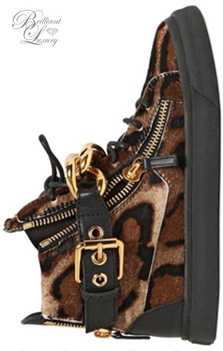 Brilliant Luxury ♦ Giuseppe Zanotti Leopard Sneakers
