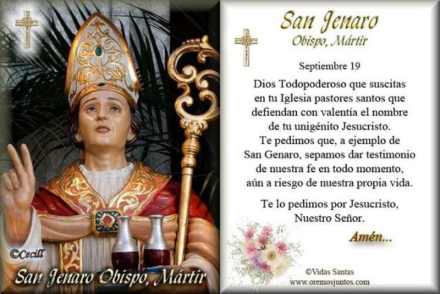 Resultado de imagen para San Genaro- 19 de Septiembre