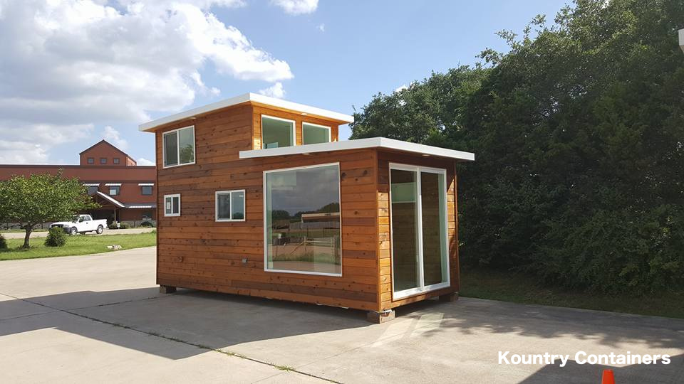 Tiny house town kountry containers loft home for Contemporary tiny house