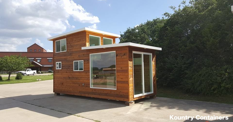 Tiny house town kountry containers loft home - Shipping container homes utah ...