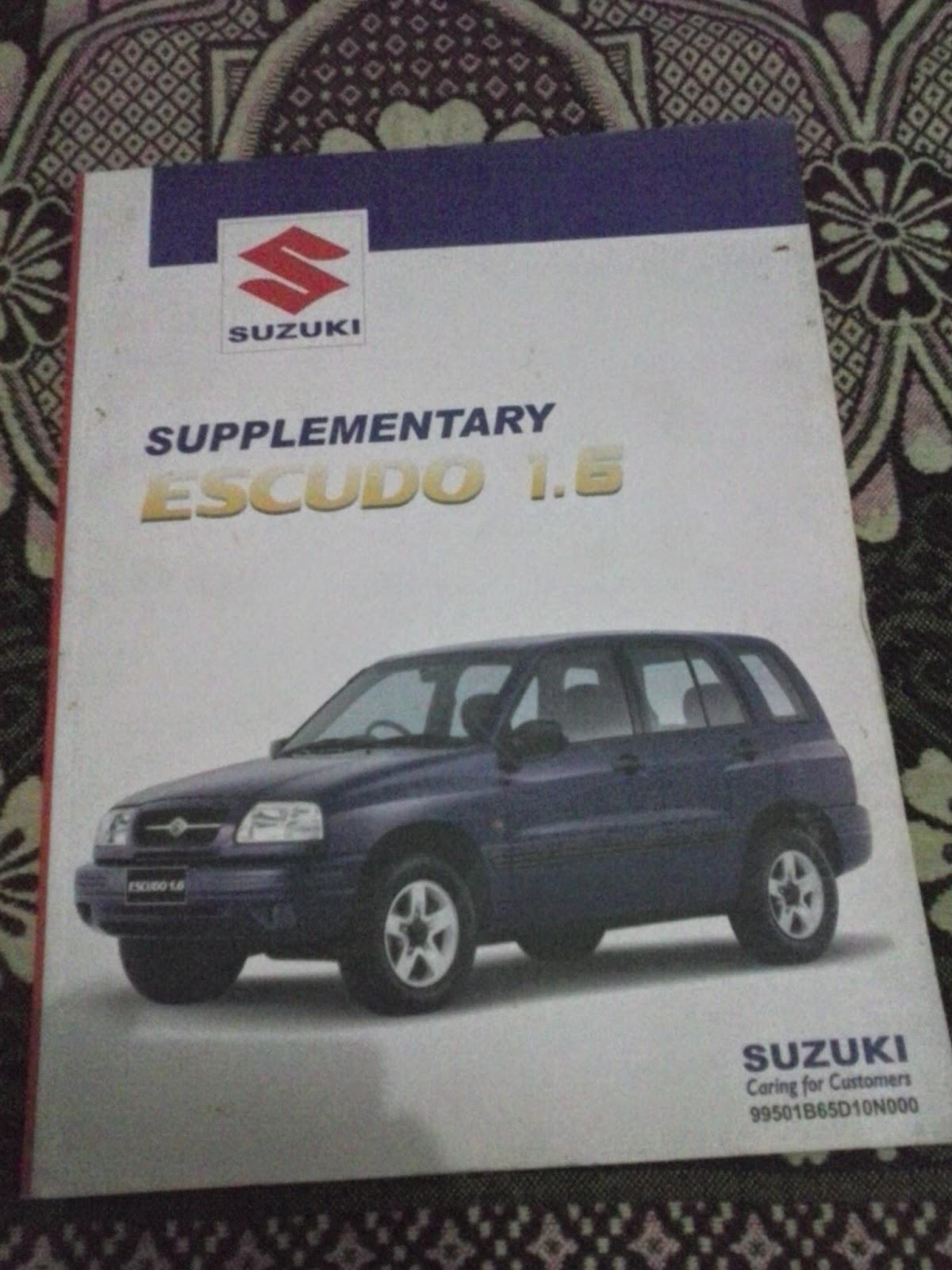 Supplementary Service Manual Escudo 1 6 Rp  1 000 000