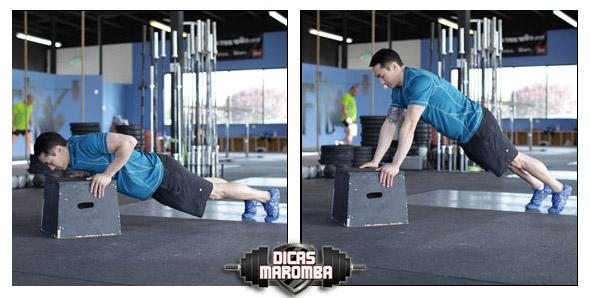 como fazer flexão inclinada execução