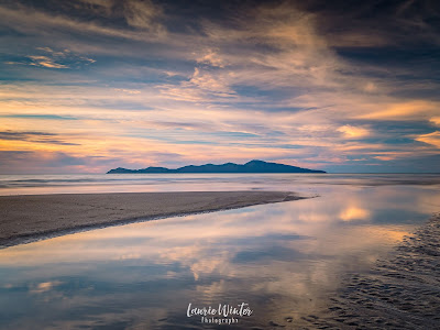 New Zealand, NZ, Wellington, Sunset, Sunrise, Kapiti Island, Reflections, Raumati, Raumati Beach