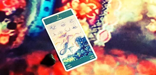 Tarot of Mermaids  - 7 of Cups