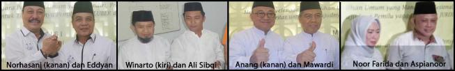 Empat pasang calon Bupati dan wakil Bupati Kabupaten Tabalong 2018