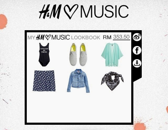 H&M Loves Music Skull Candy, H&M Loves Music Collection, H&M Music, H&M Malaysia, Skull Candy headphone, H&M lookbook