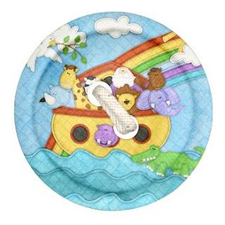 Botones del Clipart de Arca de Noé con Animales de Retazos.