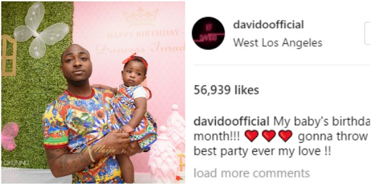 I will throw you the best birthday ever -Davido tells daughter