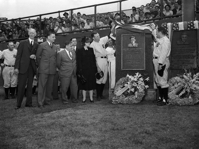 Gehrig Memorial unveiling, 6 July 1941 worldwartwo.filminspector.com
