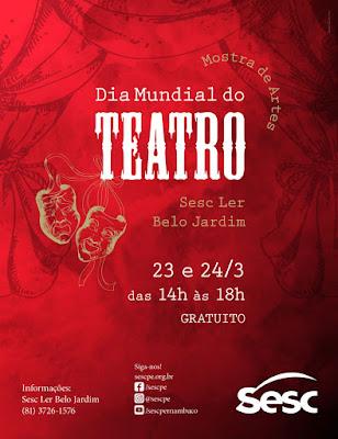 Resultado de imagem para Dia Mundial do Teatro será comemorado no Sesc com programação gratuita