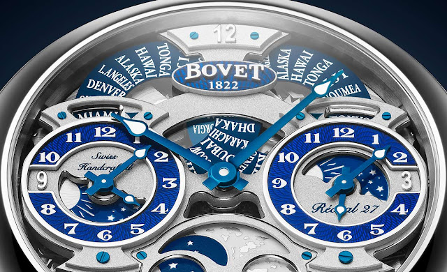 Bovet Récital 27, detail of the dial