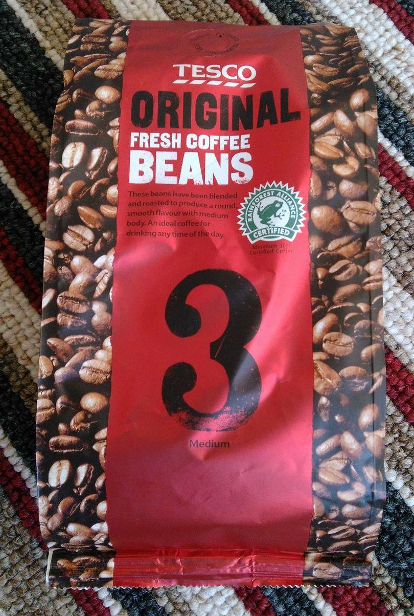 Smell The Tea And Coffee Tesco Original Fresh Coffee Beans 3