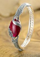 jade silver bracelet