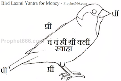 Chidiya Roopi Laxmi Yantra for money and wealth