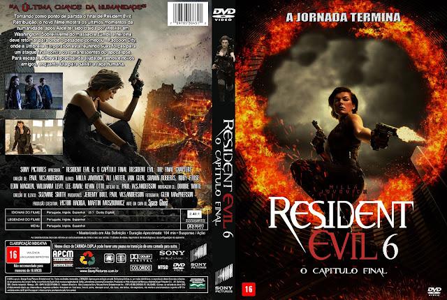 Capa DVD Resident Evil 6 O Capítulo Final