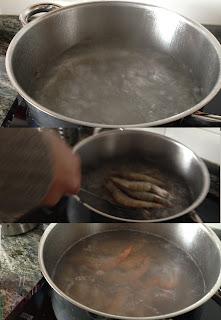cociendo langostinos
