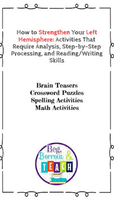 Ways to strengthen the two hemispheres/learning styles