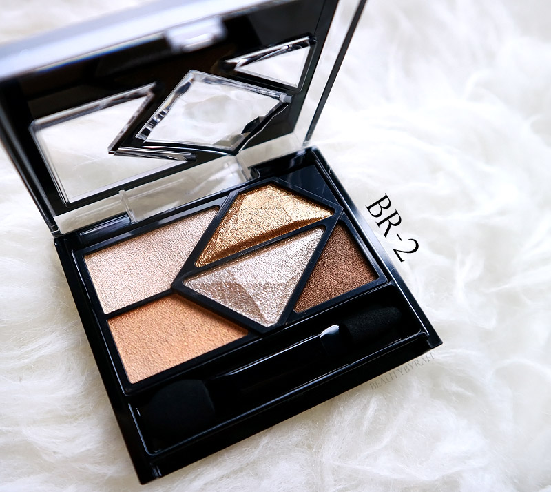 Kate Tokyo Metal Glamour Eyes Review and Swatches BR-2