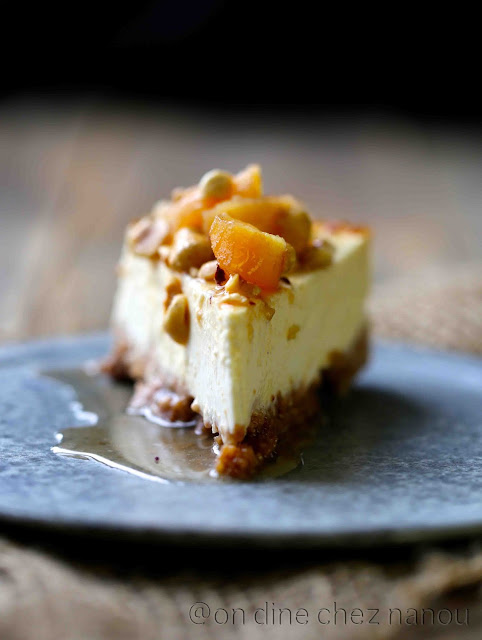 cheesecake , Philadelphia , coings , noisettes , dessert