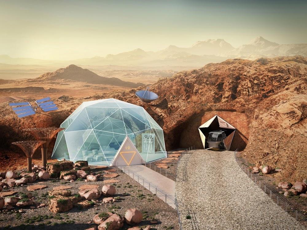 Mars home exterior (The Sun)