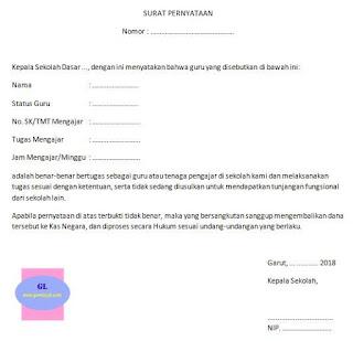 surat pengantar untuk mendapatkan tunjangan fungsional