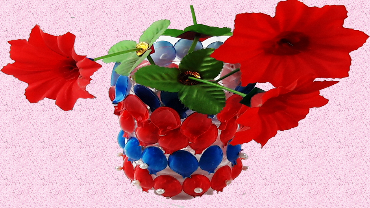Origami VideoTutorials: How to make flower vase out of plastic ...