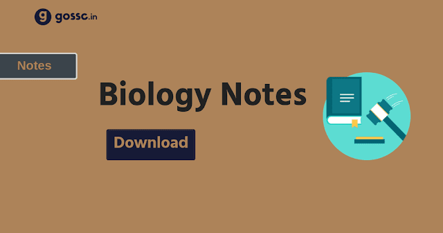 Biology Noes for SSC PDF