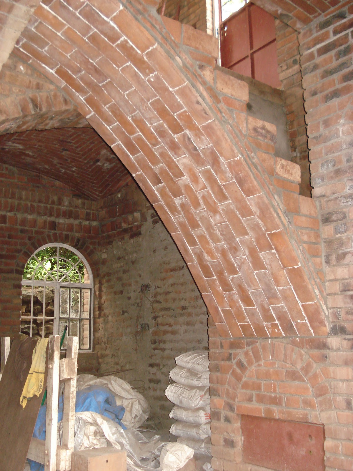 Alternative Building Construction Timbrel Vaulted Stairs