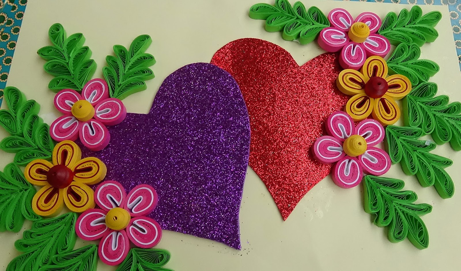 Quilled Birds For Greeting Card Paper Quilling