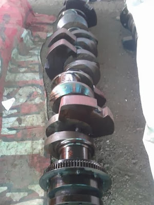 MAN B&W 6L 23/30H Crankshaft, used, reconditioned, marine diesel engine spare parts