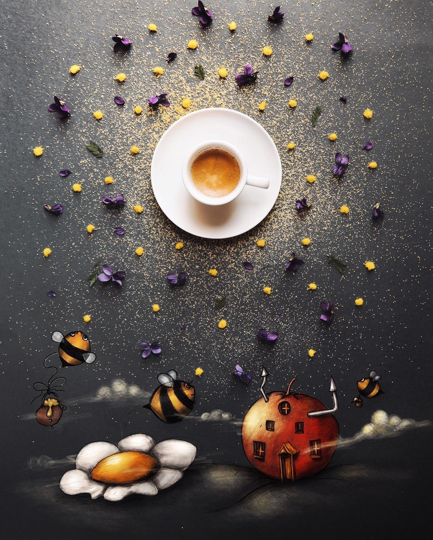 13-The-Spring-Priestesses-Cinzia-Bolognesi-The-Coffee-Rituals-and-Illustrated-Compositions-www-designstack-co