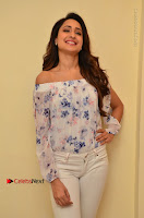 Actress Pragya Jaiswal Latest Pos in White Denim Jeans at Nakshatram Movie Teaser Launch  0012.JPG