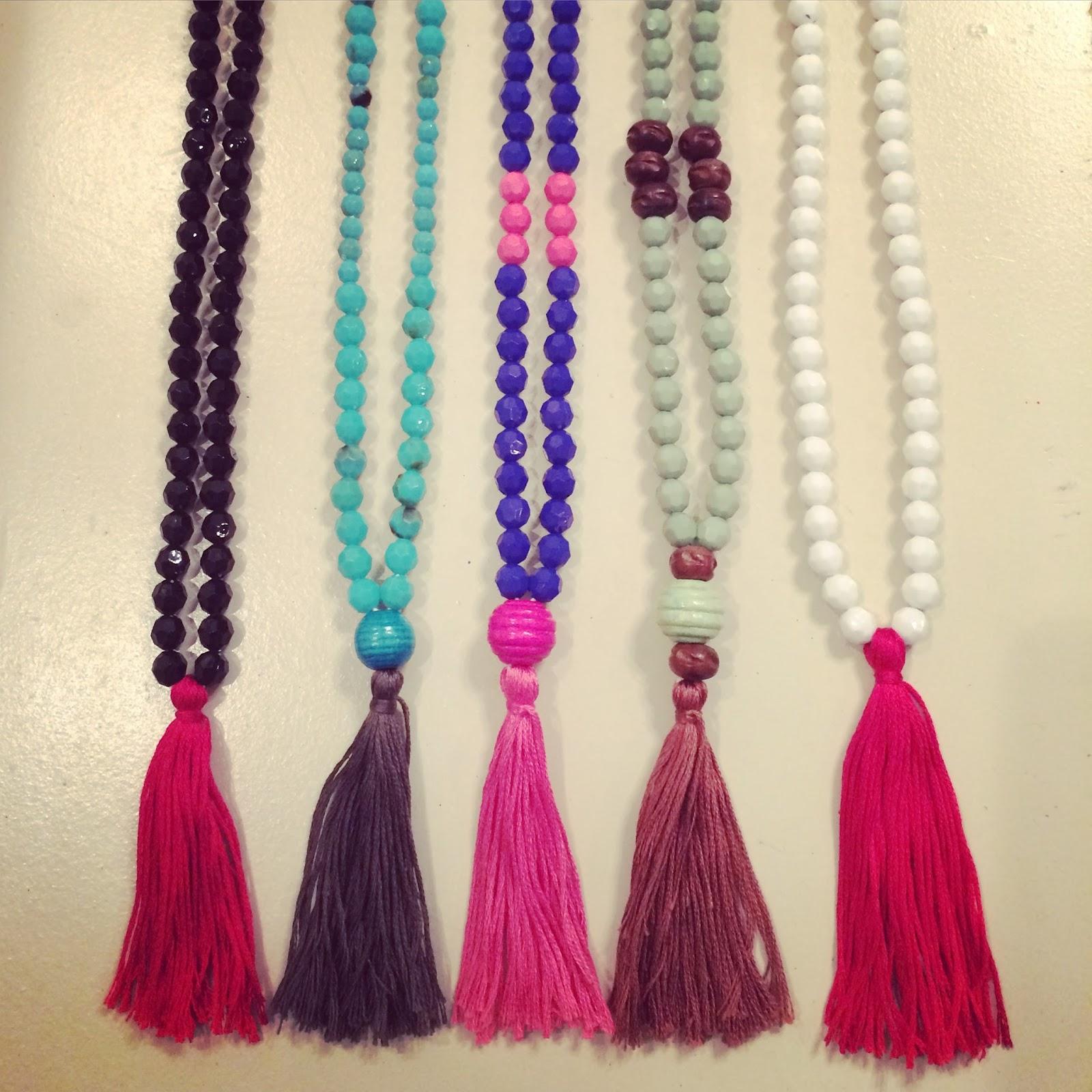 magnolia mamas diy tassel necklaces tutorial. Black Bedroom Furniture Sets. Home Design Ideas
